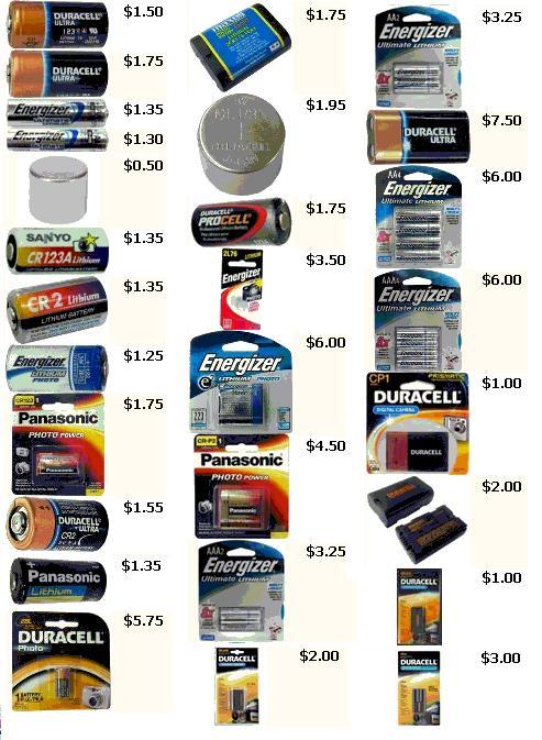 BATTERIES CHEAP - Photo Lithium Batteries Cheap